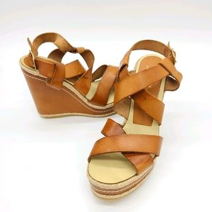 Paloma Barcelo Leather Wedges